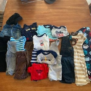 Lot of 12 month used boys clothes